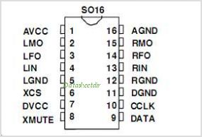 MAS6116 pinout,Pin out