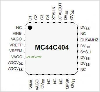 MC44C404 pinout,Pin out
