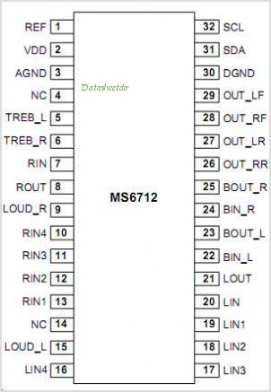 MS6712G pinout,Pin out