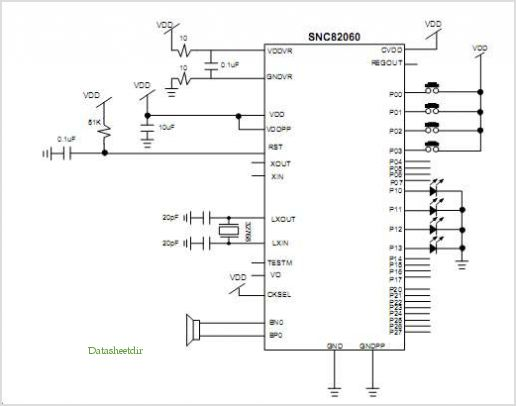 SNC82060 pinout,Pin out