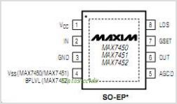 MAX7451 pinout,Pin out