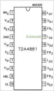 TDA4881 pinout,Pin out