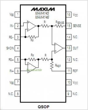 MAX4146ESD-T pinout,Pin out