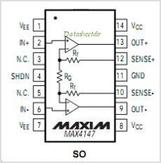 MAX4147 pinout,Pin out