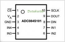 ADC084S101 pinout,Pin out