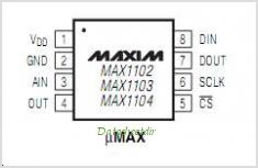MAX1102 pinout,Pin out