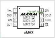 MAX1104 pinout,Pin out