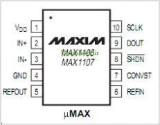 MAX1106 pinout,Pin out