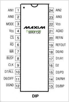 MAX156 pinout,Pin out