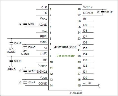ADC1004S030 circuits