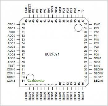 BU24591 pinout,Pin out
