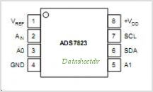 ADS7823E-250G4 pinout,Pin out