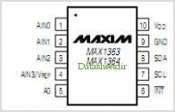 MAX1363 pinout,Pin out