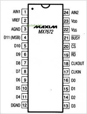 MX7672 pinout,Pin out
