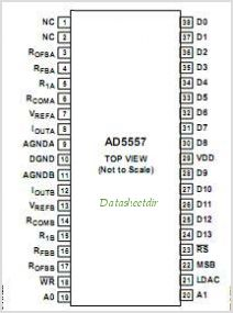 AD5557 pinout,Pin out