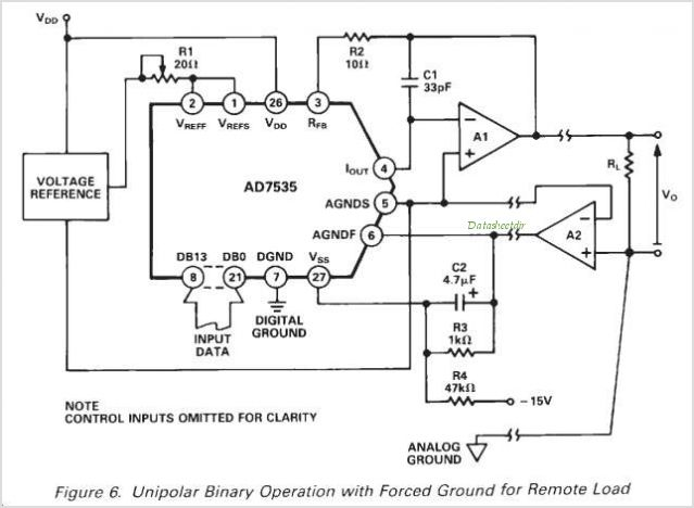 AD7535JP-REEL circuits