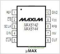 MAX5142 pinout,Pin out