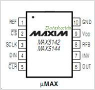 MAX5144 pinout,Pin out
