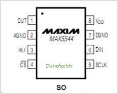 MAX5544ESAT pinout,Pin out