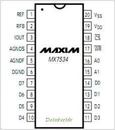 MX7534KP pinout,Pin out