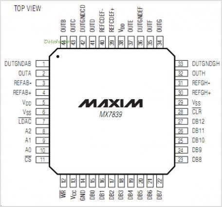 MX7839 pinout,Pin out