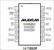 MAX5290 pinout,Pin out