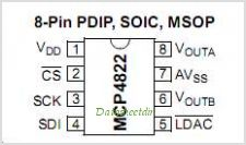 MCP4822 pinout,Pin out