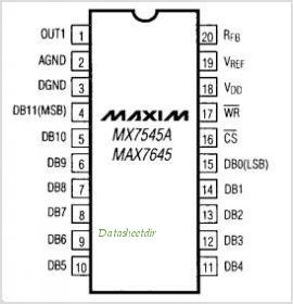 MX7545A pinout,Pin out