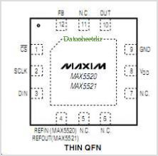 MAX5520 pinout,Pin out