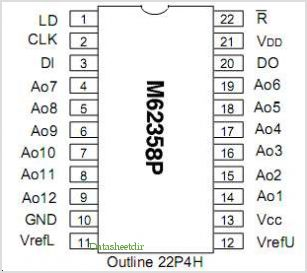 M62358P pinout,Pin out