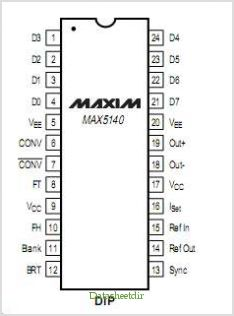 MAX5140 pinout,Pin out