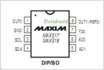 MAX517 pinout,Pin out
