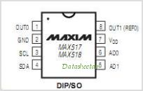 MAX518 pinout,Pin out