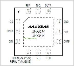 MAX5515 pinout,Pin out