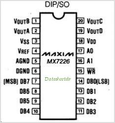 MX7226 pinout,Pin out