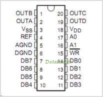 TLC7226 pinout,Pin out
