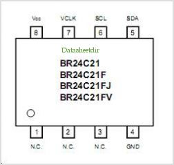 BR24C21 pinout,Pin out
