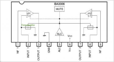 BA3306 pinout,Pin out