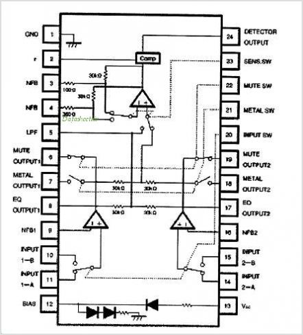 BA3430FS pinout,Pin out