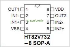 HT82V732 pinout,Pin out