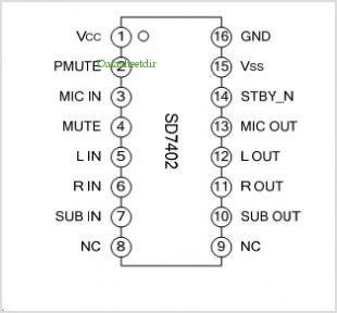 SD7402 pinout,Pin out