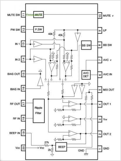 BA3574BFS pinout,Pin out