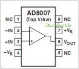 AD8007 pinout,Pin out