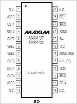 MAX4138 pinout,Pin out