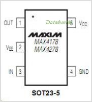 MAX4178 pinout,Pin out