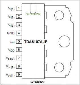 TDA6107AJF-N1 pinout,Pin out