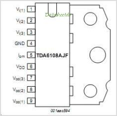TDA6108AJF pinout,Pin out
