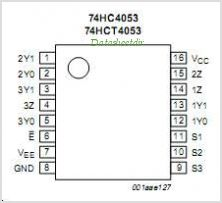 74HC4053 pinout,Pin out