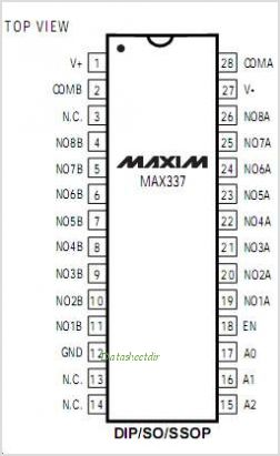 MAX337 pinout,Pin out