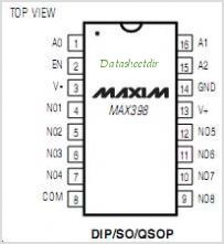 MAX398EEE-T pinout,Pin out